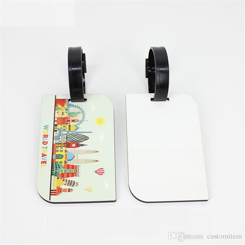 mdf tag per bagaglio in legno per sublimazione con stampa a trasferimento del cuore in bianco blank Consumabili per il trasporto di bagagli da viaggio dx-006 all'ingrosso