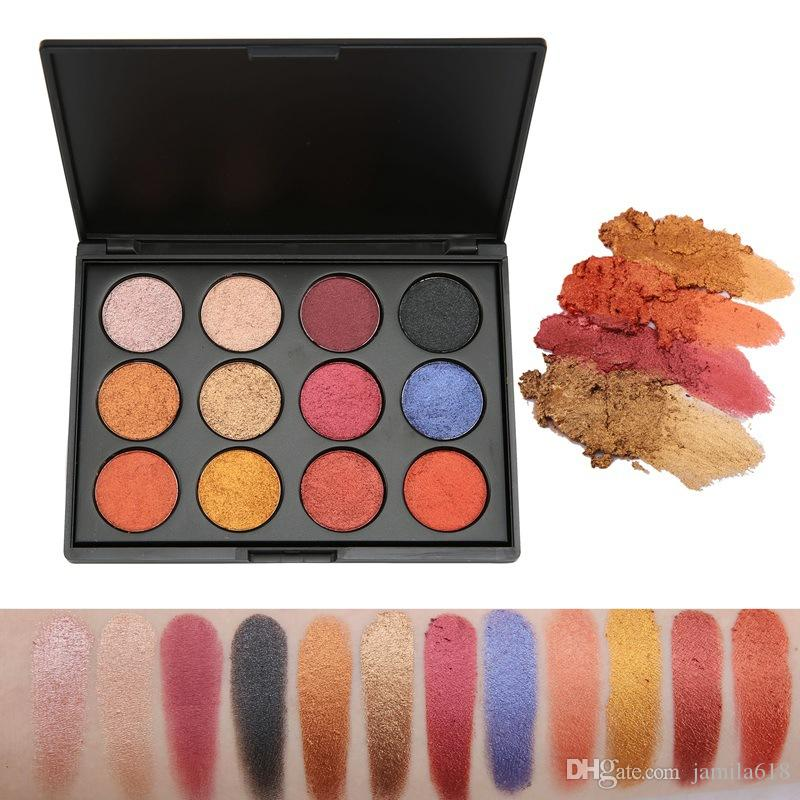 High Quality No Label Highlight Makeup Palette pigmented eye shadow Palette Wet Shimmer Makeup eyeshadow Eye Cosmetic Make up palette