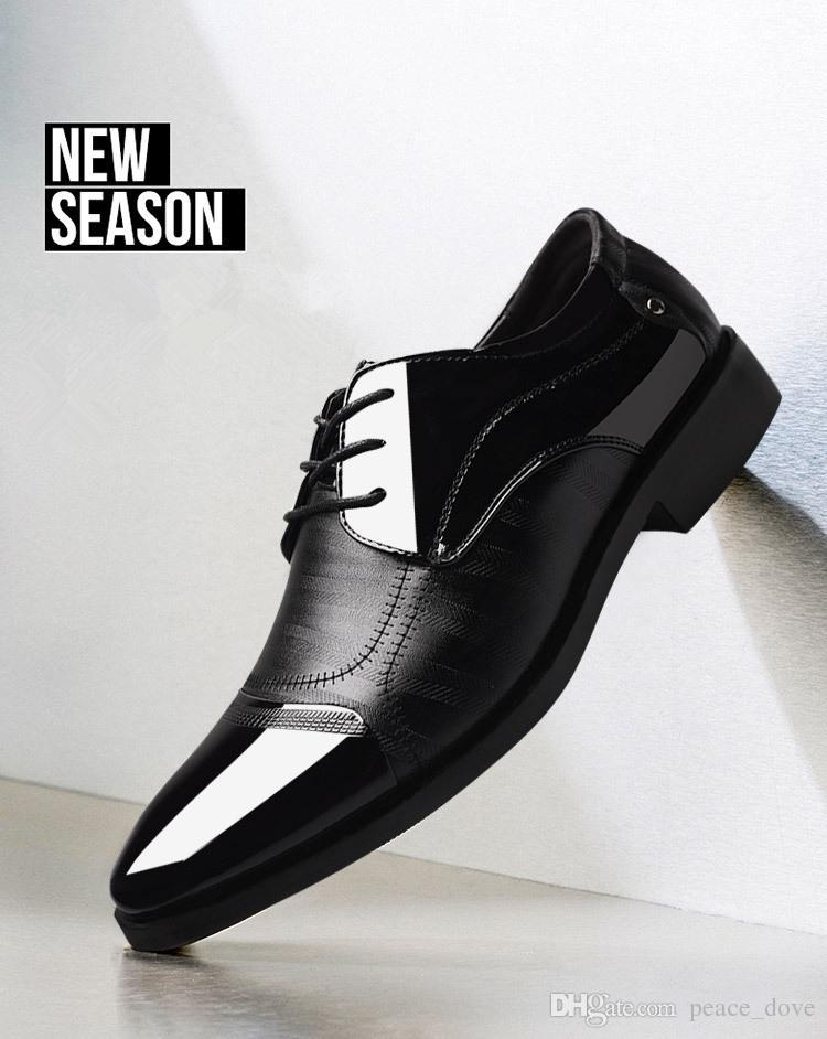 Homens sapatos formais sapatos de couro dos homens sapatos de escritório dos homens tamanho grande erkek ayakkabi klasik sapato zapatos para hombre social sepatu pria