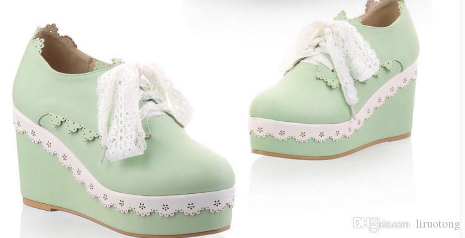 Ücretsiz göndermek 2016 bahar moda yeni stil eğim topuk yuvarlak kafa bayan ayakkabıları