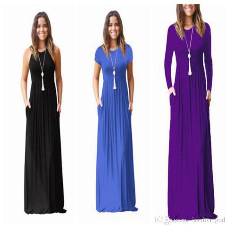Dresses Women Maxi Casual Dress Women's Vestidos Clothing Round Collar Elegant Sundress Slim Evening Party Dress Sexy Fashion Dress LYM08