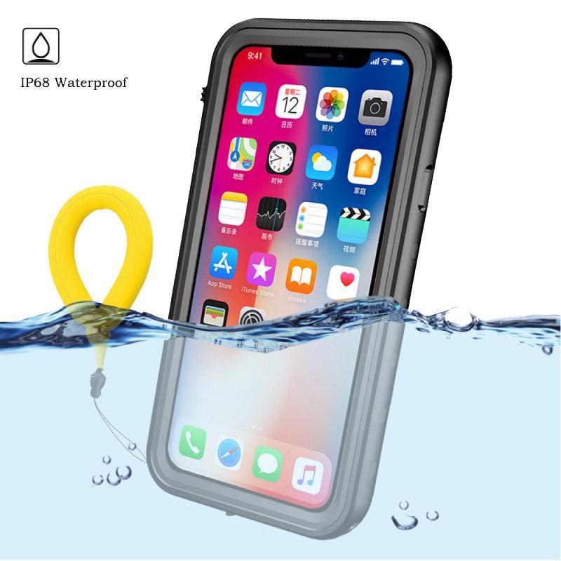 vendita all'ingrosso Proteggi per Apple iPhone XS Max Custodia a prova di acqua Clear Back Front Cover per Etui iPhonex Coque Custodia impermeabile per iPhone XR X