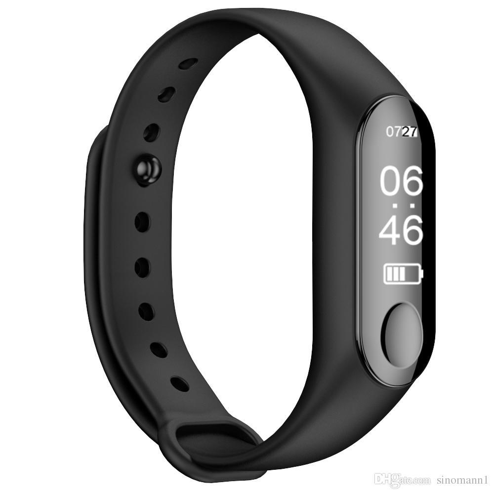 M3 Smart Wristband Bracelet Heart Rate/Blood Pressure Monitor Measure Pulse Men Fitness OLED Tracker For Iphone PK mi band 3 F07