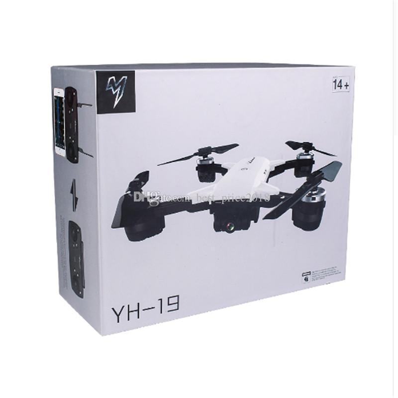 Горячая YH-19HW Мини Складной RC Drone с камерой HD Wifi FPV Высота удержания Quadcopter RC Дрон против Visuo XS809HW XS809W RC Вертолет Бесплатная доставка