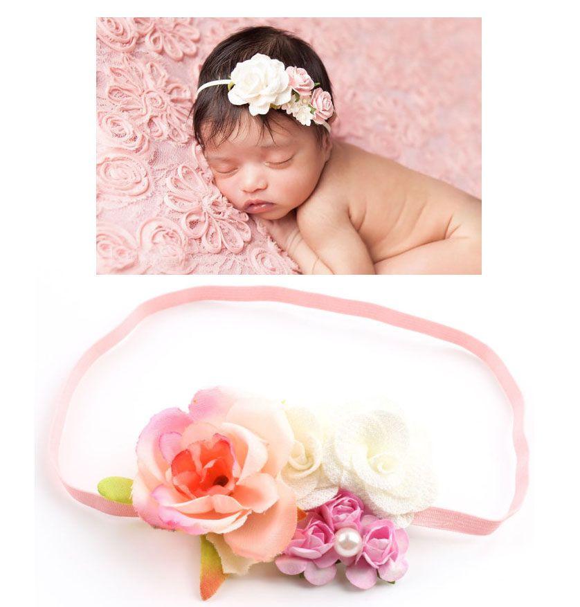 Bandeaux floraux pour les filles 2018 vente chaude enfants bandeau bébé filles fleur bandeau nouveau-né serre-tête fleur bandeaux