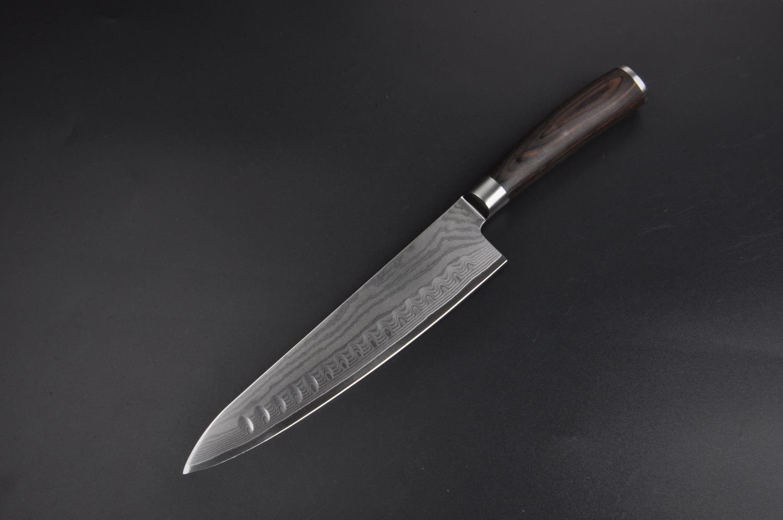 Japanese Damascus Steel Chef Knife Ultra Premium 8 Inch Damascus Steel Import Spanish Pakka Wood Handle Durable Balanced Gyutoh Excellent