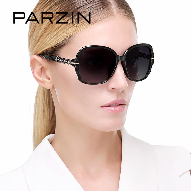 Occhiali da sole polarizzati all'ingrosso di qualità di marca per le donne occhiali di lusso grande cornice così veri occhiali da sole per la guida con la scatola di logo