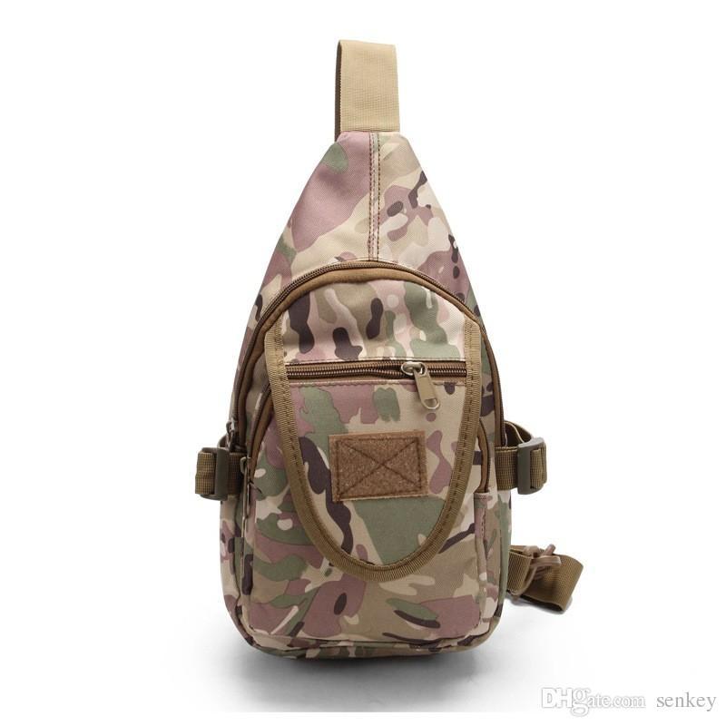 Outdoor sport Camping hiking trekking sling chest bag woodland digital military tactical shoulder bag