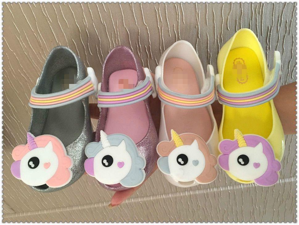 Children Kid Cartoon Home Slippers Cat Floor Shoes Sandals Jelly Baby Girls Boys