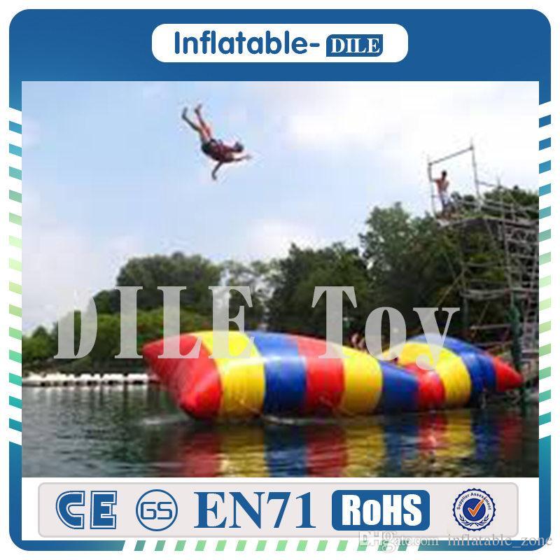 شحن مجاني 5x2 متر نفخ فقاعة الماء القفز وسادة فقاعة الماء القفز حقيبة نفخ الترامبولين للبيع