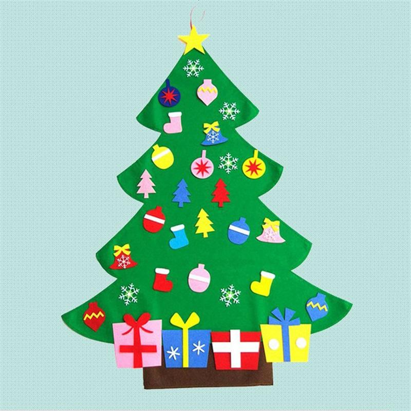Candy Christmas Tree Decorations.Happy Christmas Tree Decorations Handmade Diy Sock Santa Claus Candy Felt Gift Fun Festival Arrangement Ornament New Arrive 22fq Kk Christmas