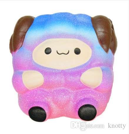 Джамбо милые овцы болотистый красочные Радуга альпака медленный рост ремни мягкий Squeeze душистый хлеб торт весело детские игрушки подарок