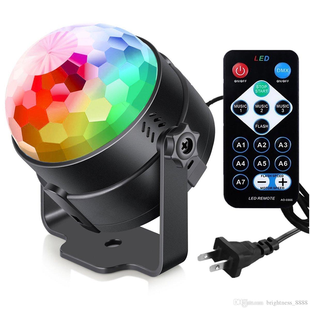 أضواء الحزب ديسكو الكرة أضواء دي جي ، صوت ستروب المنشط الأنوار حزب الكرة الخفيفة الصمام أضواء المرحلة تأثير عرض الإضاءة