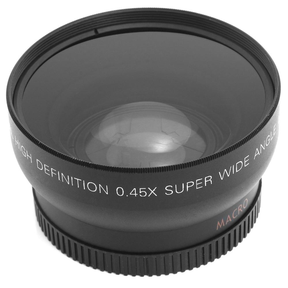 52MM 0.45x Wide Angle Lens + Macro Lens for Nikon D7100 D7000 D5200 D5100 D3200 and Canon Sony cameras with 52mm Filter Thread