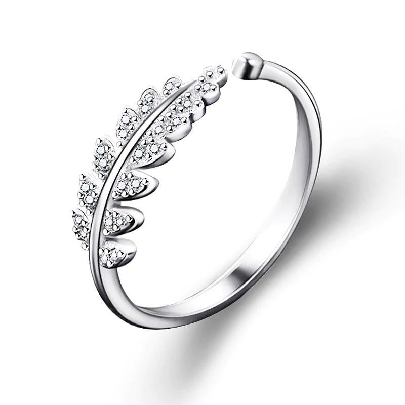 10PCS Woman Jewelry Fashion Simple Open Design Leaf Ring Personality Female Flower Rings Wedding Rings For Women Christmas Gift