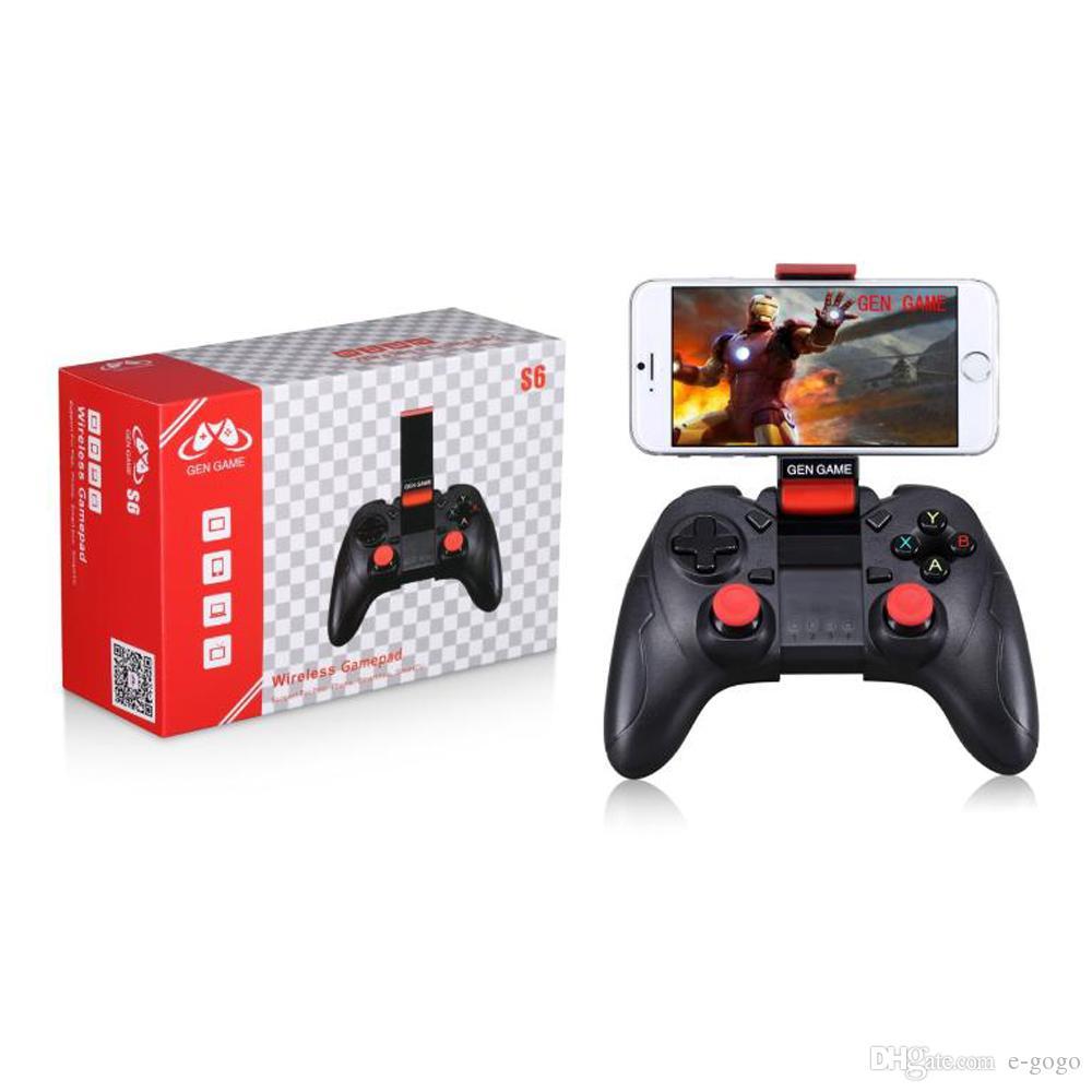 Gen Game S6 Wireless Bluetooth Gamepad Bluetooth 3.0 جويستيك لعبة تحكم لجهاز iOS Android Smartphone Tablet PC TV Box