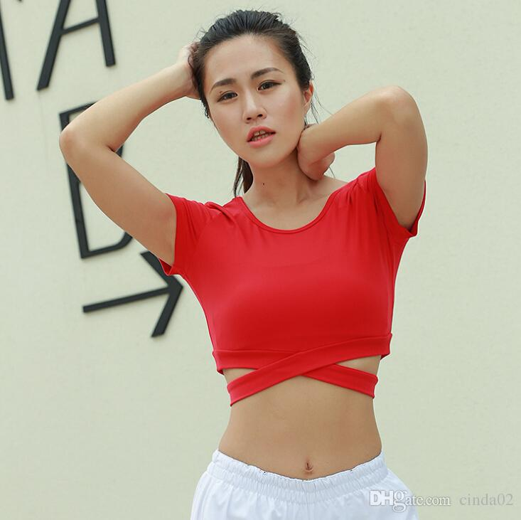 Crop Top Womens Clothes Summer Spring Short Sleeve Bandage Fashion Hot Cropped Tops Beach ClubWear