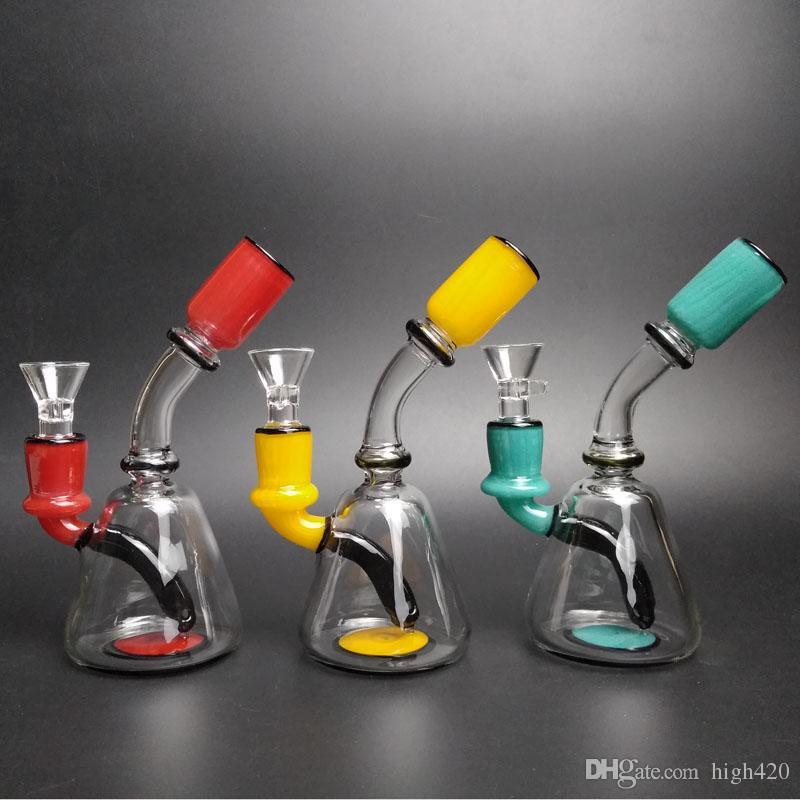 Haute 420 Nouvelle arrivée Verre Pipes eau mignon petit morceau de tuyau avec 14mm Fumer Homme Bol en verre en verre d'eau Bong Livraison gratuite
