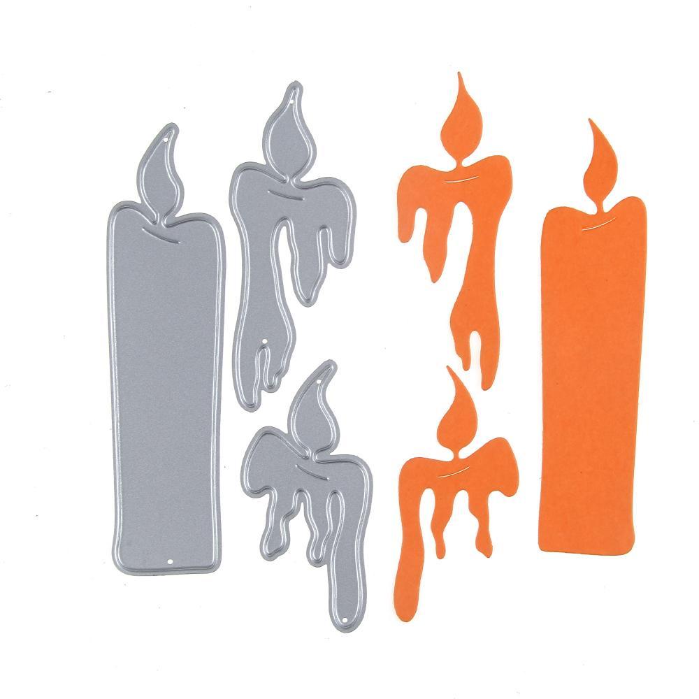 2017 Embossing Steel Candle Burnning Set Cutting Dies Stencils DIY Scrapbooking Card Album Photo Painting Template Metal Craft