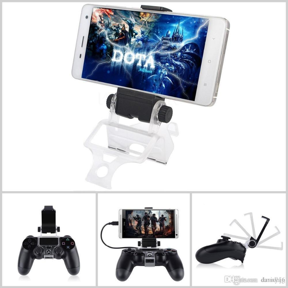 New Cellphone Clamp Mobile Phone Clamp Smart Clip Holder Handle Bracket for PS4 DualShock 4 Controller
