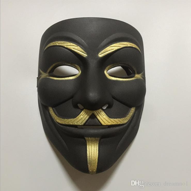 V for Vendetta Mask Guy Fawkes Anonymous Halloween Masks fancy dress costume
