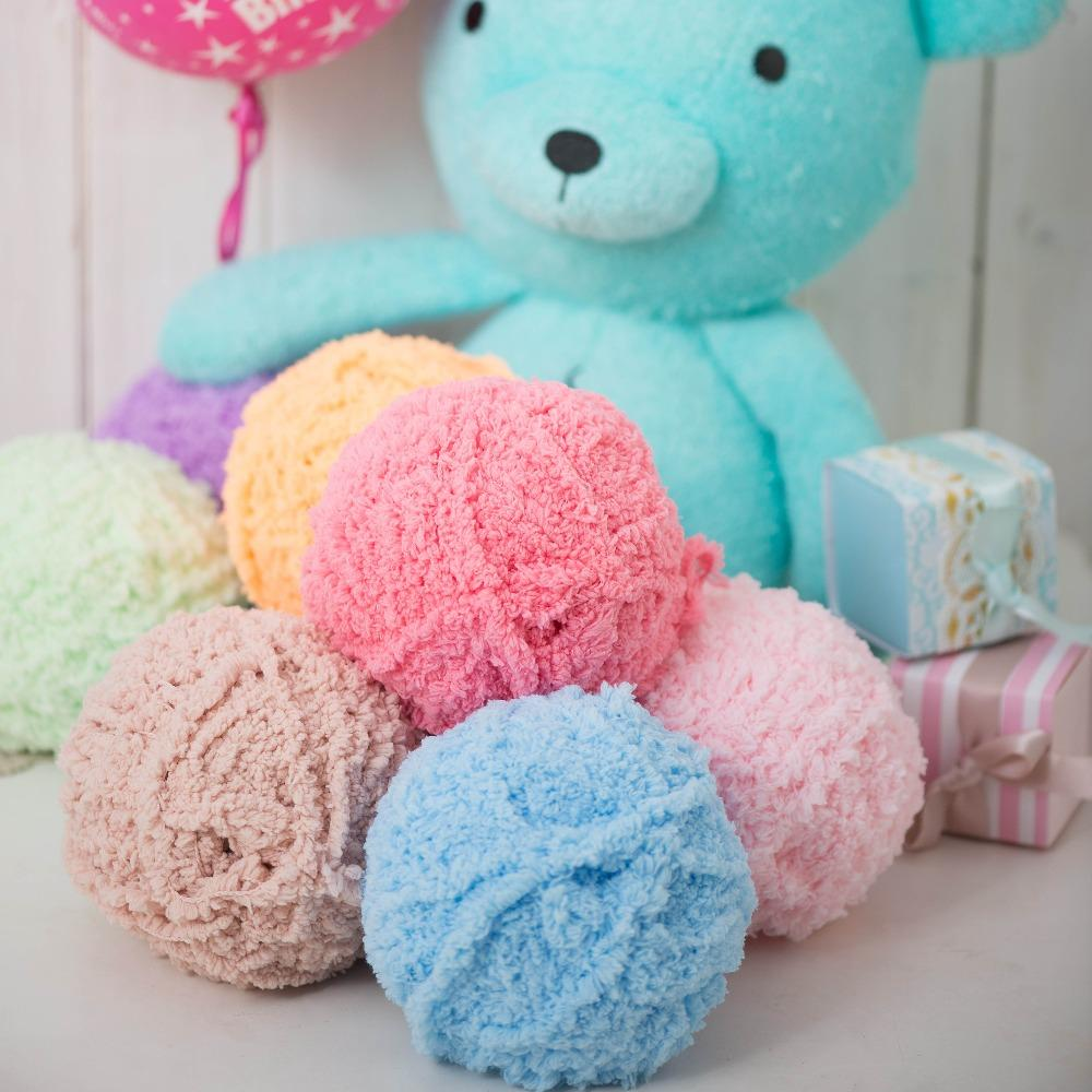 20colors 10pcs Single Strands Wool Cloth With Soft Nap Plush Top Line To Hand-woven Thread Crochet Knitting Applicable