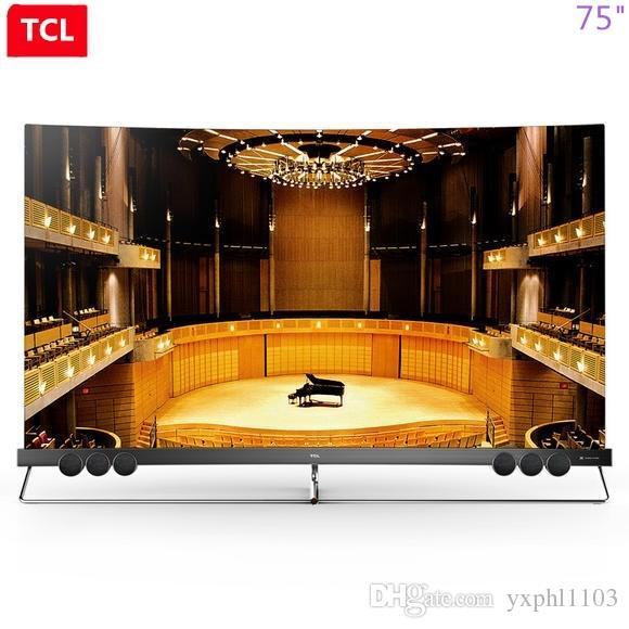 TCL 75 pollici proto-quantum dot schermo curvo pieno ecologica HDR intelligente HD Ultra 4K curva TV libera il trasporto!
