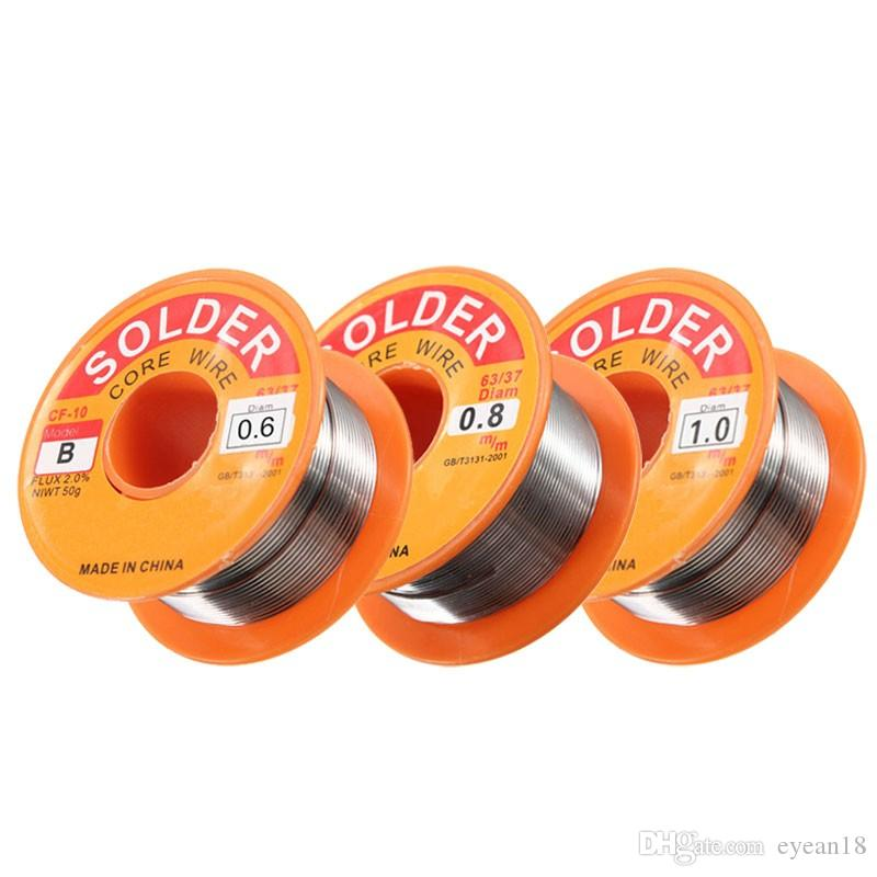 0.5/0.6/0.8/1MM 63/37 FLUX 2.0% 45FT Tin Lead Tin Wire Melt Rosin Core Solder Soldering Wire Roll