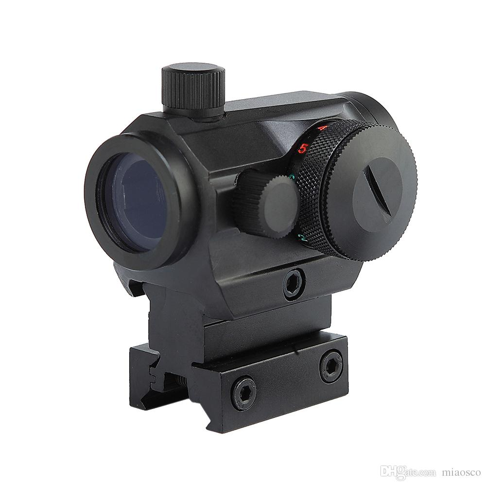 Тактического Охота Red Green Dot Reflex Sight Прицелы с High / Low Dual Profile рейки Airsoft пневматического оружие винтовка Red Dot Область применение.