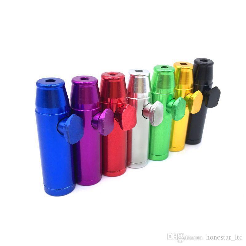 Mermi Şekli Metal Snuff Snorter Sniffer Sigara Boru Tütün Boruları Sigara Taşınabilir En Iyi Hediye Sigara Aksesuarları