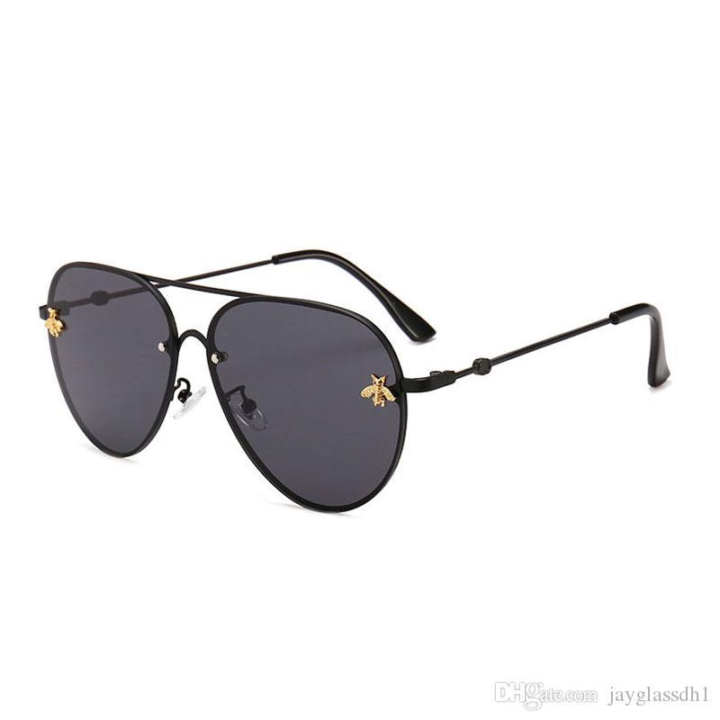Le donne di moda arrivano occhiali da sole UV400. Uomini Qualità Buon nuovo maschio Designer di grandi dimensioni Designer Vintage Metal Metal Brand SFKSt