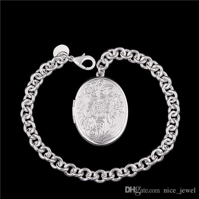 هدية الوحش! جولة قفل جراد البحر سوار 925 الفضة سوار JSPB349 ؛ حار بيع فتاة النساء الفضة الاسترليني مطلي سحر أساور