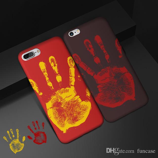Termosensibile Cambia colore Sensing Calore cassa del sensore termico magico morbido PU impronte digitali per l'iPhone 11 Pro Max XS XR X 8 7 6 6S più
