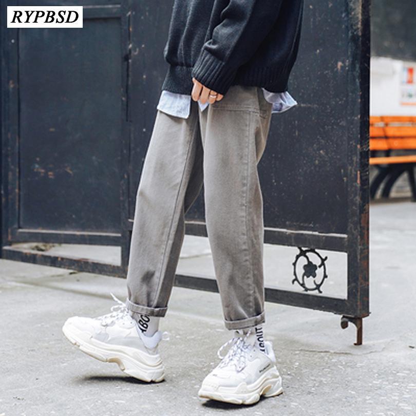 2019 primavera e autunno versione coreana della tendenza semplice di jeans casual pantaloni slim da uomo giovani studenti di personalità