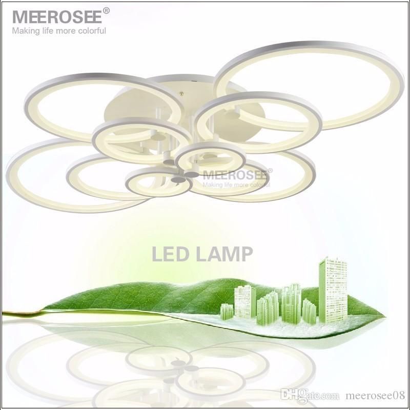 Lampadario moderno LUCCIA LUCE LUCE LED LED Lampada da soffitto Lampada da soffitto Flush Mounted Circles Illuminazione indoor per da pranzo Seduta Camera da letto Soggiorno