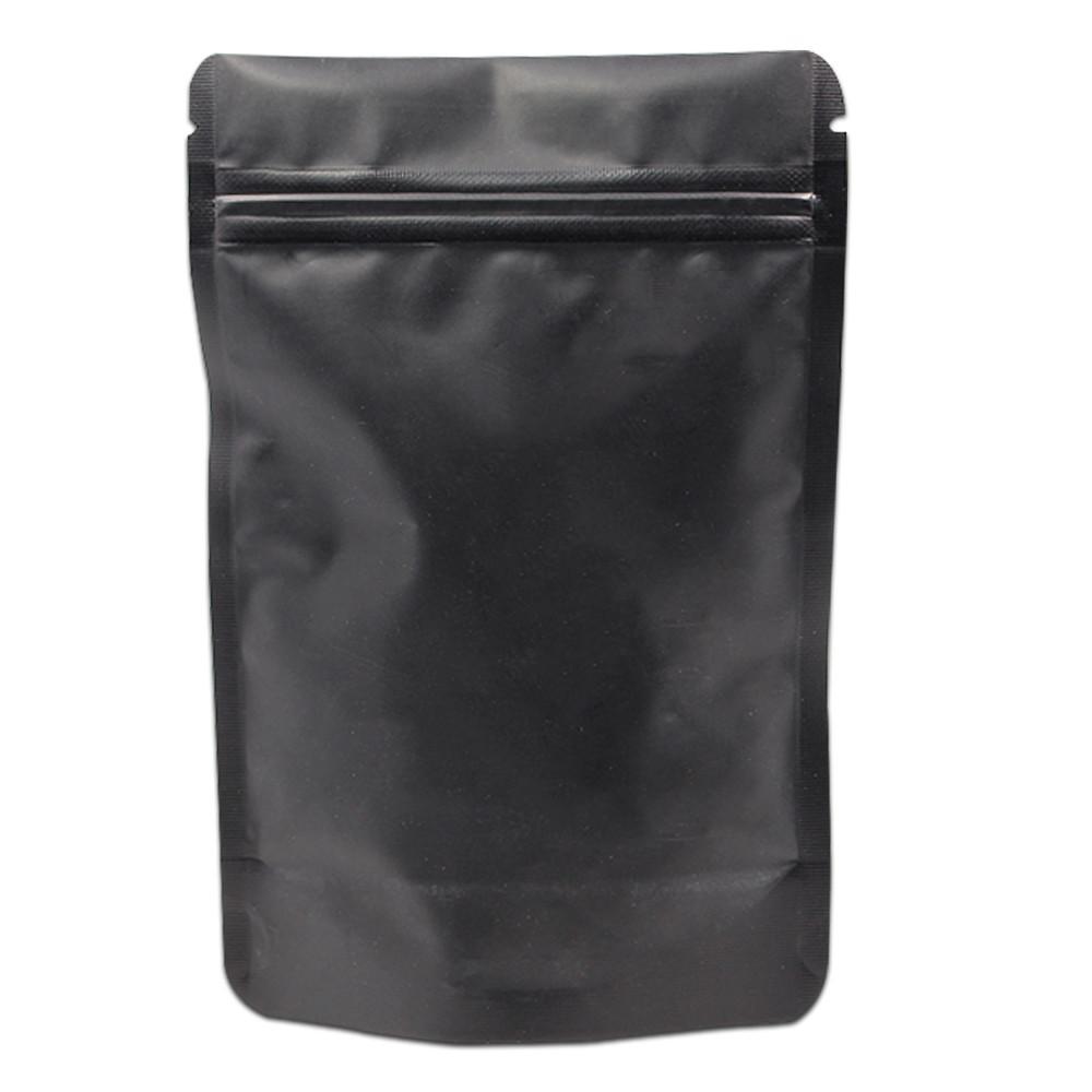 100 pcs Ziplock Paquet Paquets Tear Notch Pur Aluminium Feuille Stand Up Snacks Poche Zipper Réutilisable De Noël Pack Cadeau Sacs 10x15 cm
