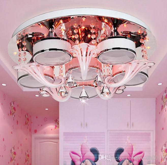 Soffitto di cristallo di lusso Creative Light Soggiorno Camera da letto Villa Luce Ferro 3/6/9 capo plafone Telecomando 6 colori LLFA