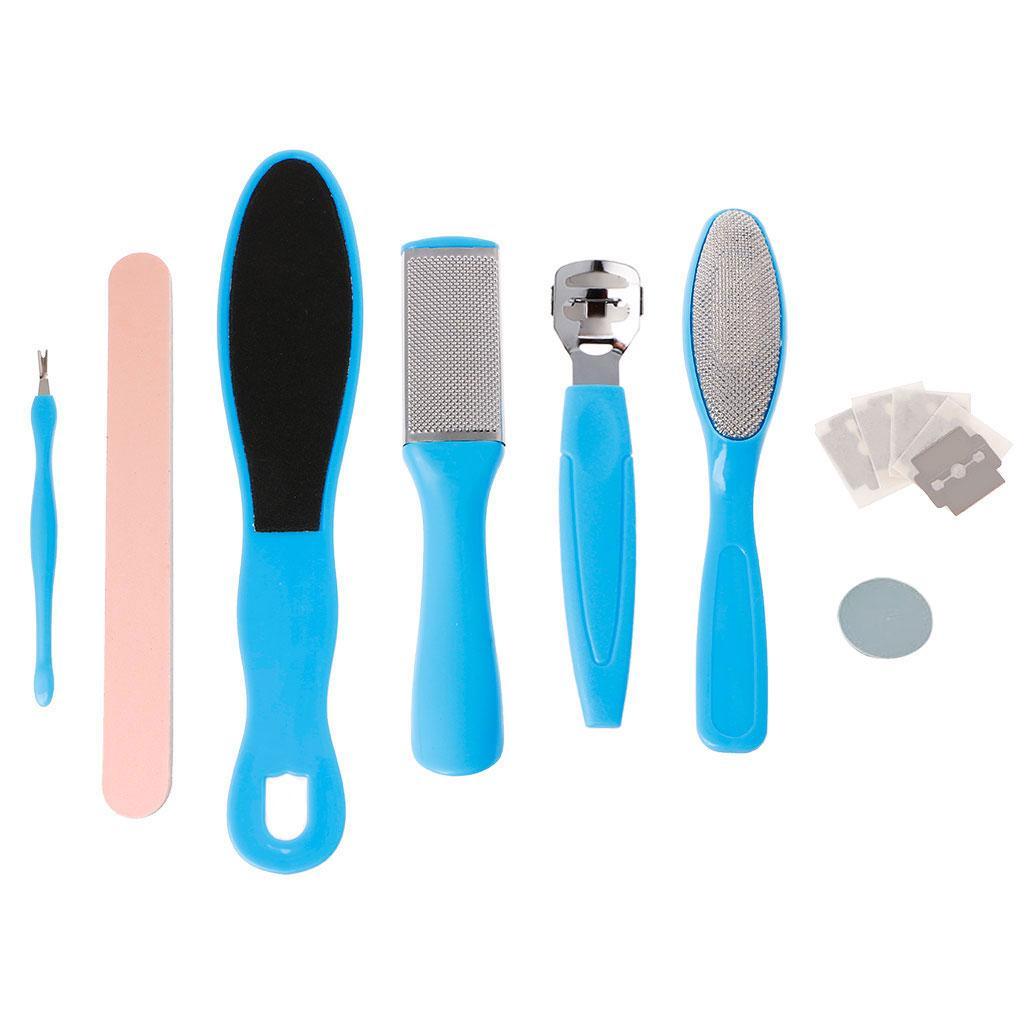 8Pcs / Set Pedicure Tool Cura del piede File Hard Dead Dry Cuticle Skin Remover della pelle
