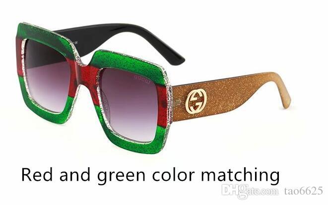 2018 quality big-name fashion color cool sunglasses designer brand men and women sunglasses glasses various colors