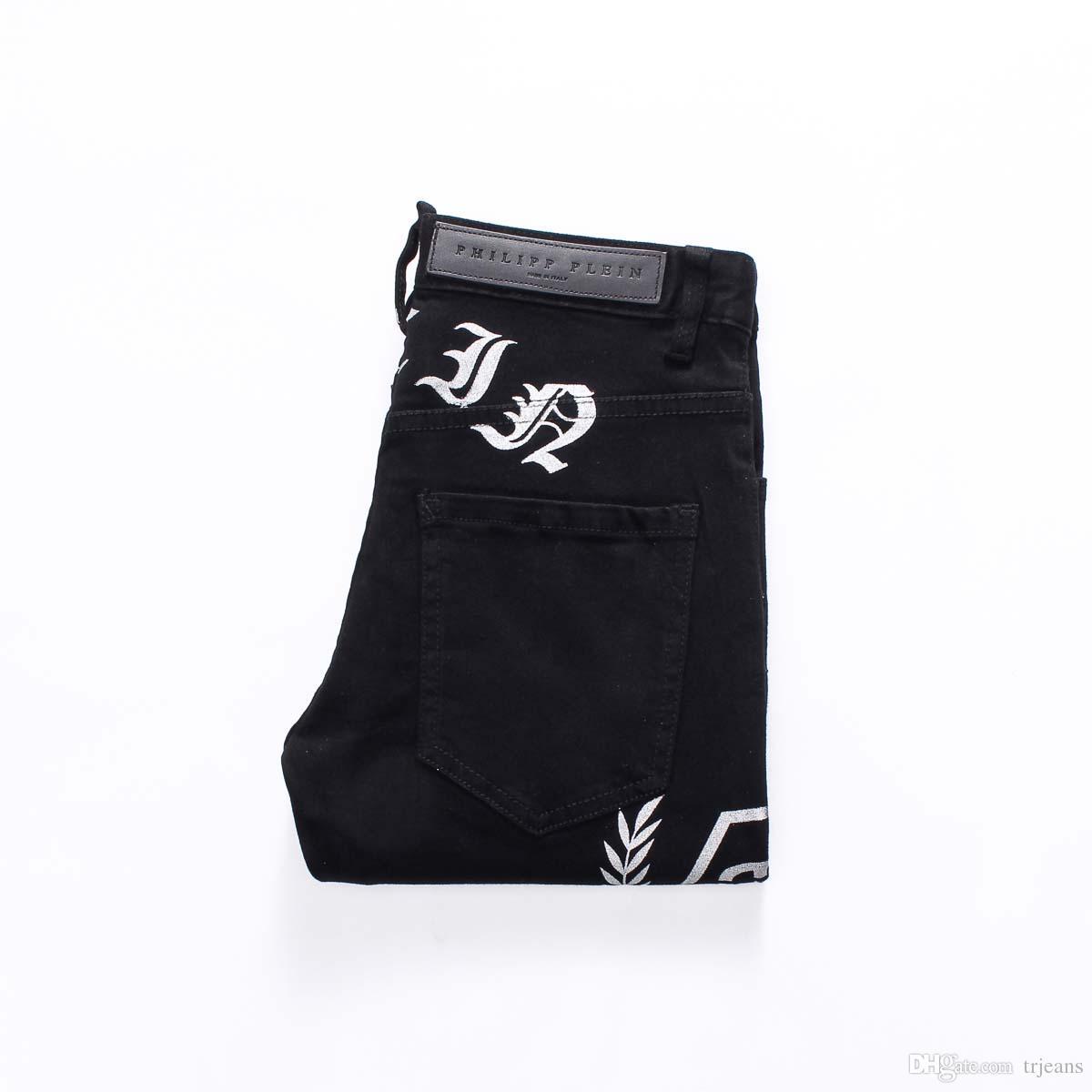 Compre 2018 Europa Y América Pantalones Vaqueros Simples Pantalones ...