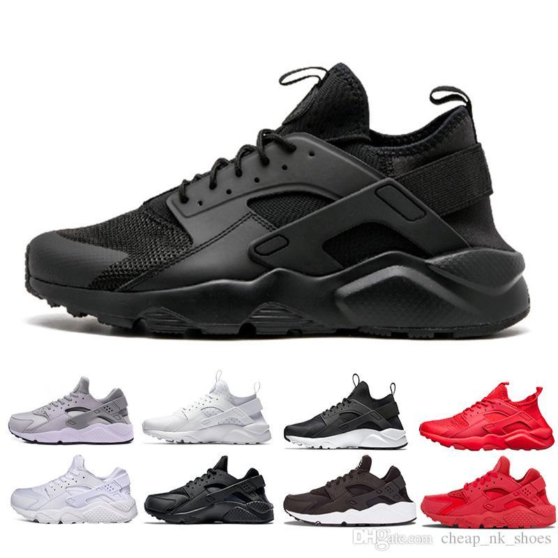 Livraison gratuite Huarache chaussure de course Triple blanc noir rouge Hommes Femmes Chaussures de course Huaraches Entraîneur Athlétique Hommes Chaussures de sport Sneaker Eur 36-45