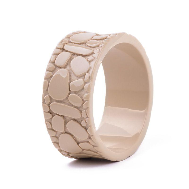 Nuovo braccialetto in resina moda alla moda braccialetto in acrilico Lucite colore solido braccialetto in pietra di ciottoli per le donne gioielli in stile strada alta braccialetto