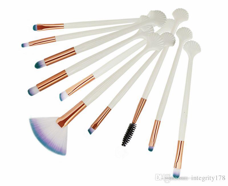 MAANGE 10Pcs Pennelli Trucco Set Ombretto Ciglia Sopracciglio Polvere Occhi Labbra Make Up Pennello Cosmetico Beatuy Tool Kit Maquiage