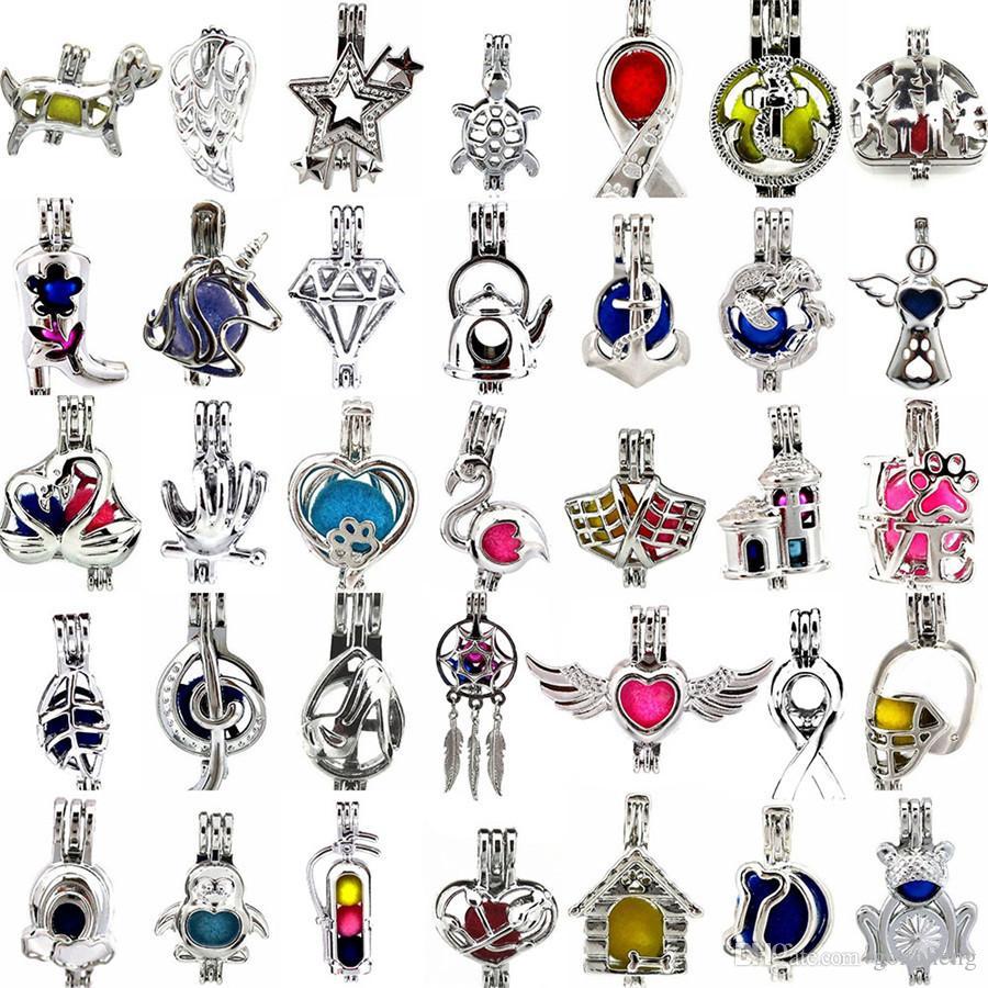 800 disegni per la vostra scelta-medaglione gabbie amore desiderio Perla / gemma perline oyster Pearl Mountings-Natale gabbia di perle-senza Akoya Oyster