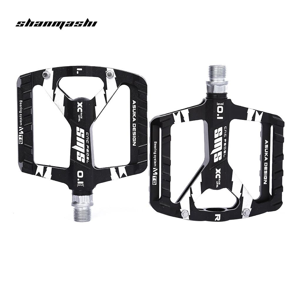 SHANMASHI Paired DU Bearing Outdoor Cycling Road Mountain Bicycle Pedal Ultralight Water Resistance Bike Pedal Bicycle Part Free Shipping VB