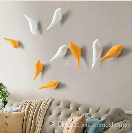 Appendiabiti da parete animali stereoscopici Bird Resin accessori per la casa Appendiabiti da cucina Appendiabito da muro Decorazione da parete Bird Rack per il bagno