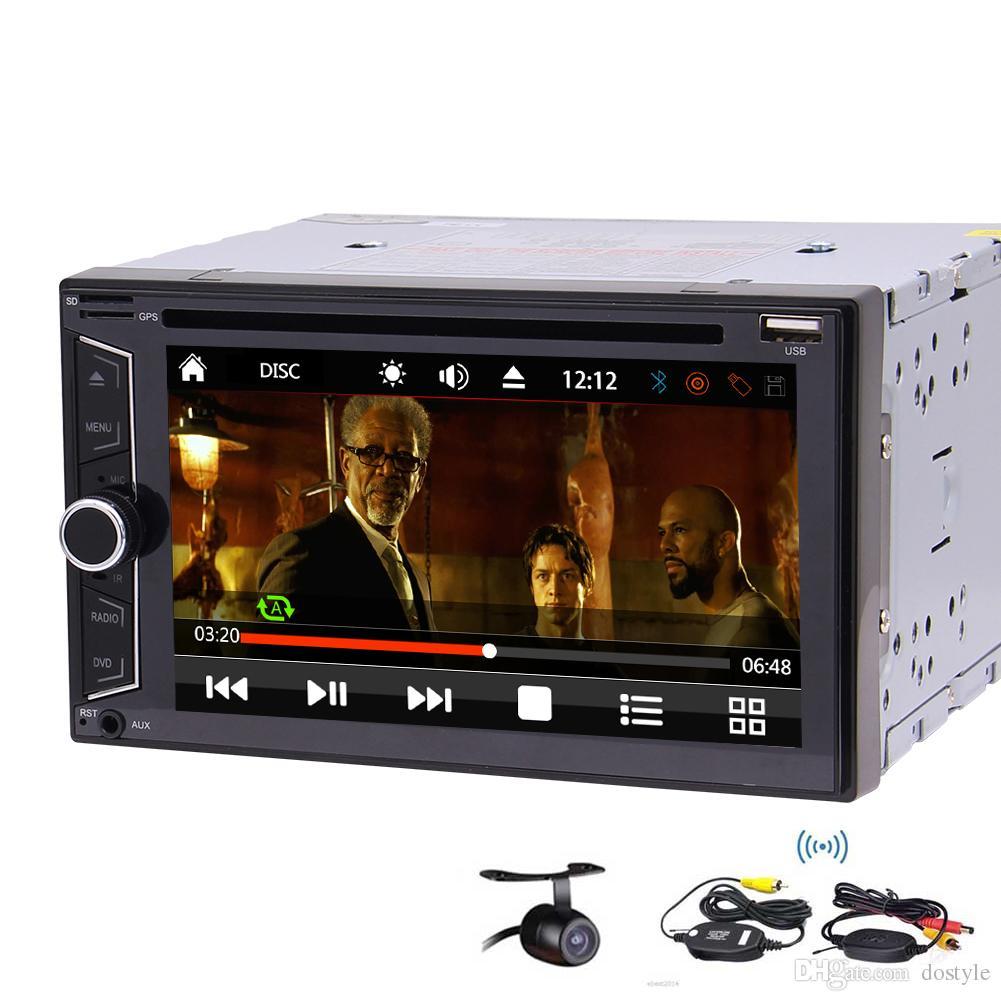 """In Dash 6.2 """"Reproductor de DVD estéreo para automóvil Reproductor de CD Radio FM Autoradio Bluetooth USB SD Aux rueda de dirección Botón colorido Diseño de interfaz de usuario opcional"""