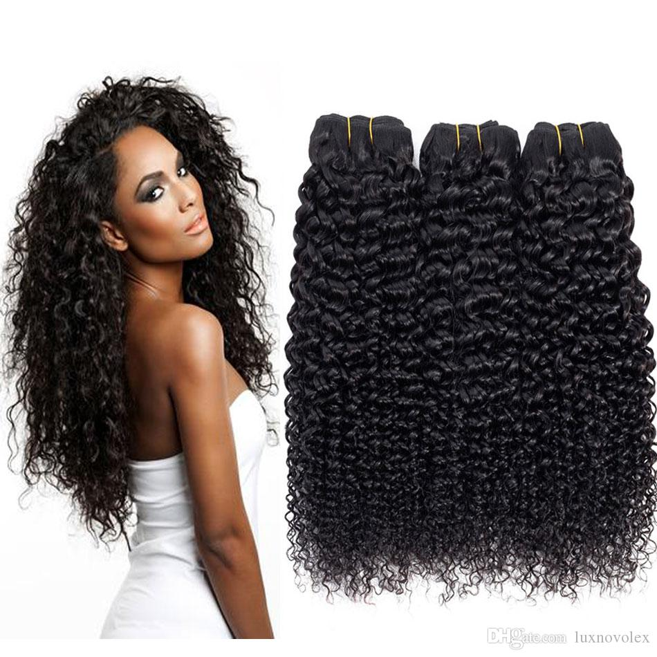 9A Brazilian Kinky Curly Human Hair Bundles Unprocessed Peruvian Jerry Curly Human Hair Extensions Malaysian Indian Curly Virgin Hair Weaves