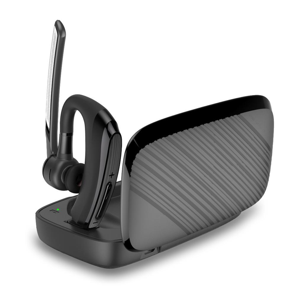New Bluetooth Earphone stereo Handsfree Headphones smart Car call Business Headset with Power Bank Box