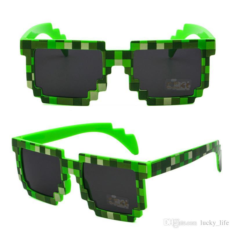 Çocuklar Için 50 ADET Moda Çocuk çocuk Güneş Gözlüğü Yetişkinler Için Gözlük Piksel Retro Kare Güneş gözlükleri Knickknack Hediye Çocuk Boys Üc ...